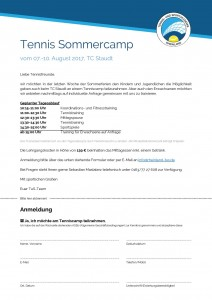 Sommercamp TC-Staudt